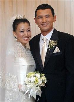 Hwang Jung Min and Kim Mi Hye