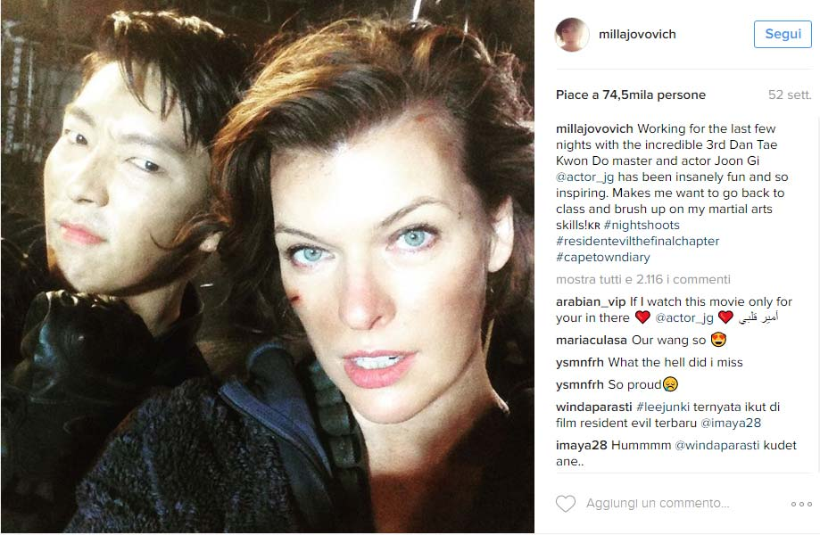 Lee Jun Ki e Mila Jovovich