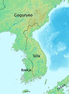 I tre Regni di Corea 576 d.C.
